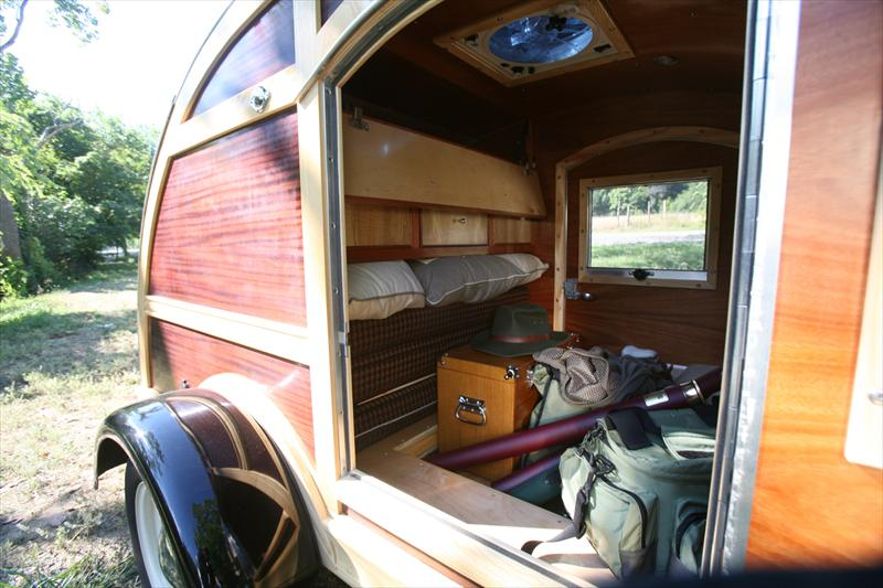 iGavel Auctions: Custom G&G Woodie Teardrop Camper-G3GA