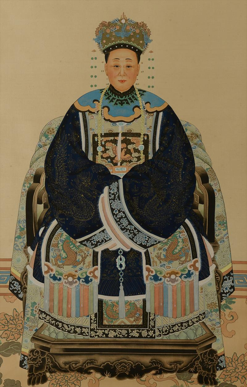 Igavel Auctions Chinese Ancestral Portrait On Silk C1ab