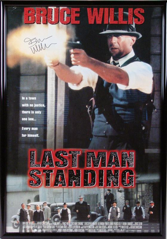 igavel auctions bruce willis movie poster quotlast man
