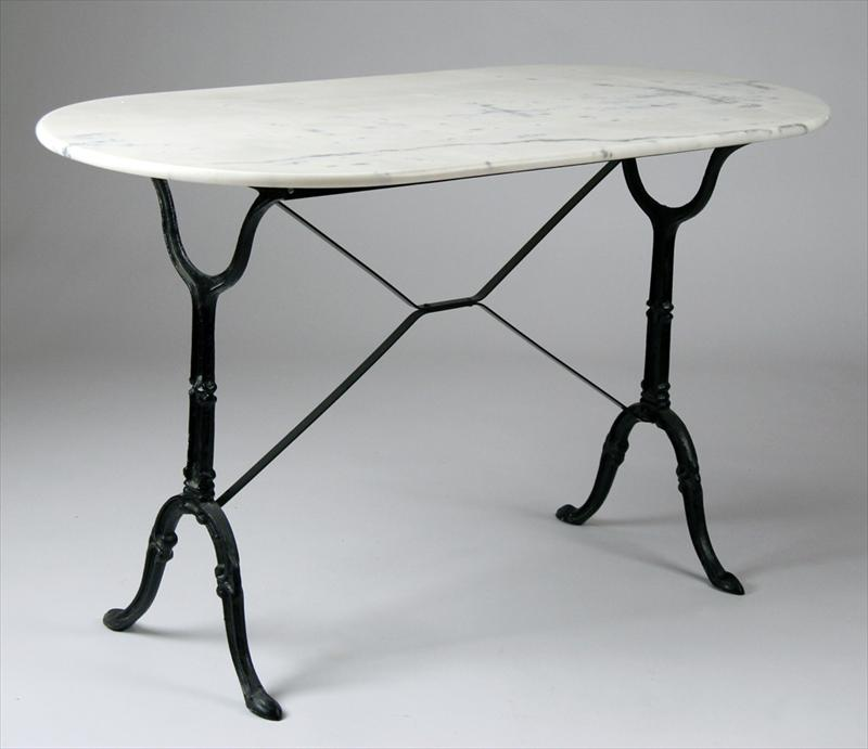 Igavel auctions marble top table wrought iron base d9sc6 d9sc for Wrought iron table bases marble top