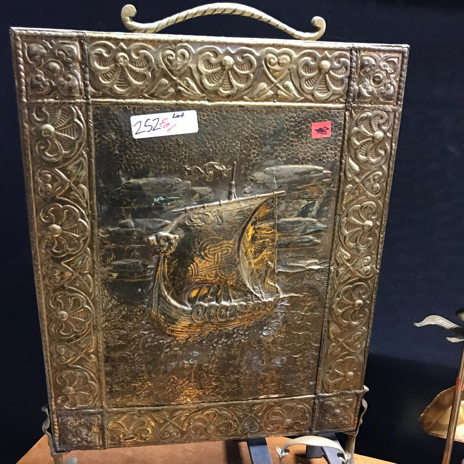 igavel auctions group of five brass fireplace ornaments including