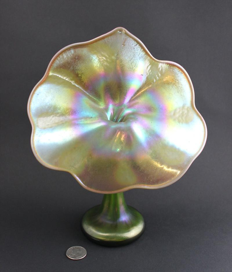 Igavel Auctions Tiffany Favrile Art Glass 10 Quot Jack In The Pulpit Bud Vase Ms1a