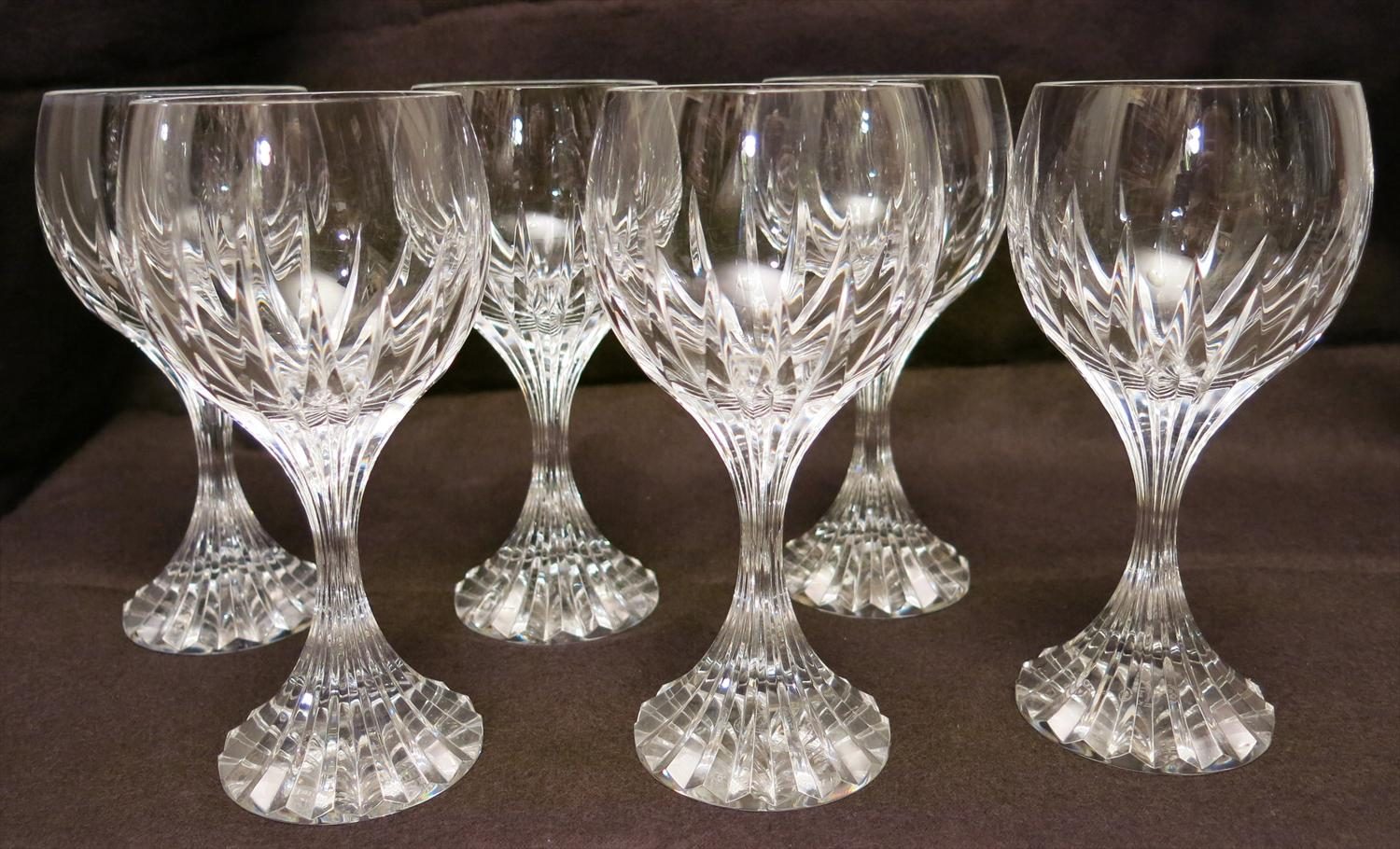 Igavel auctions set of baccarat crystal wine glasses french l4cl - Baccarat stemware ...