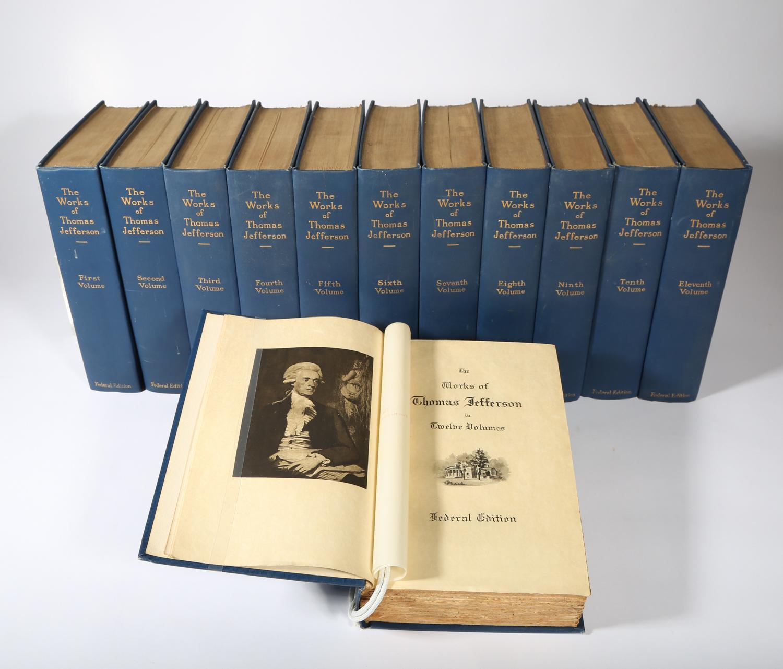 Jefferson, Thomas. The Works in Twelve Volumes, 327/1000, 1904 SBC2