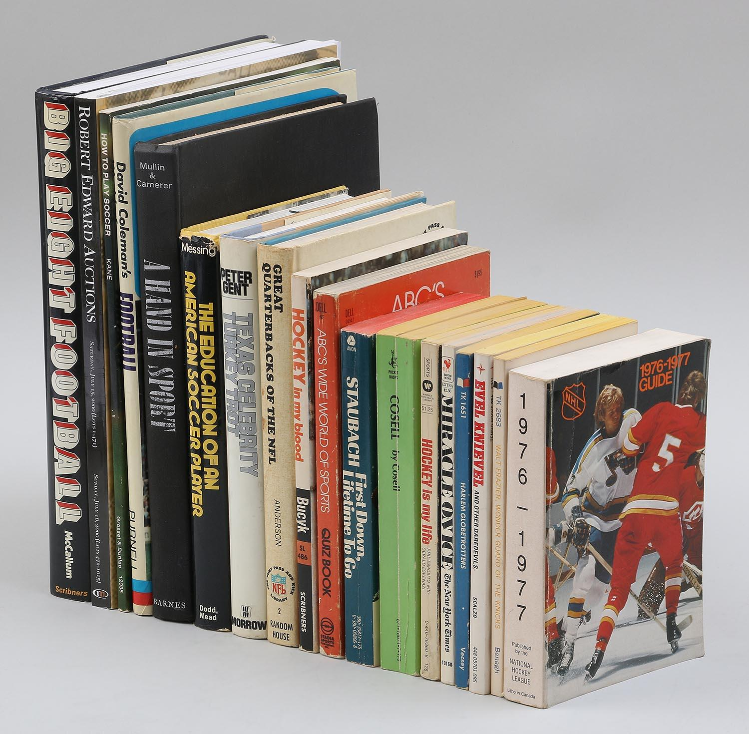 Group of (18) sports related books and catalog. FR3SH.