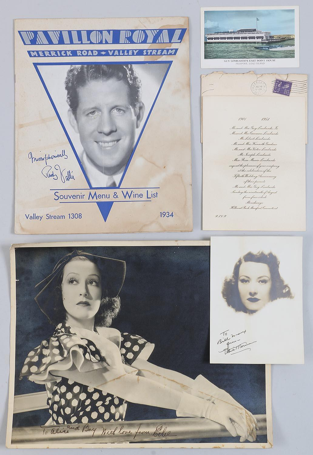 Group of (4) celebrity ephemera. FR3SH.