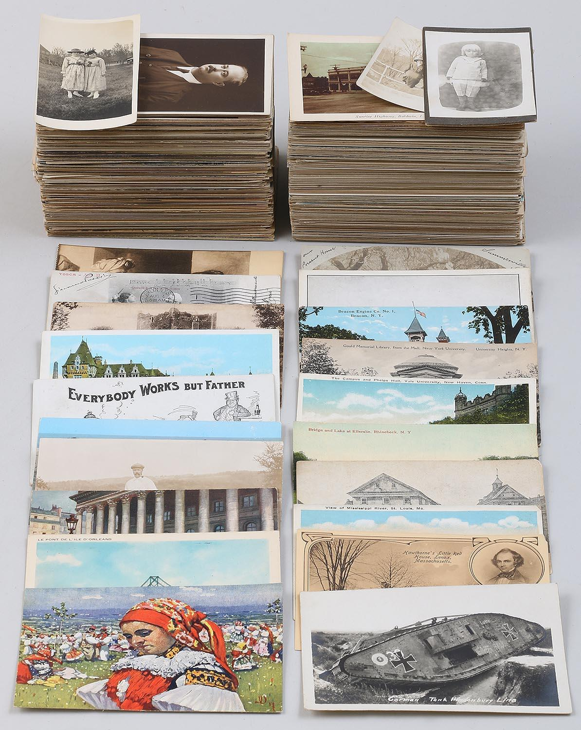 Group of (300+) postcards. FR3SH.
