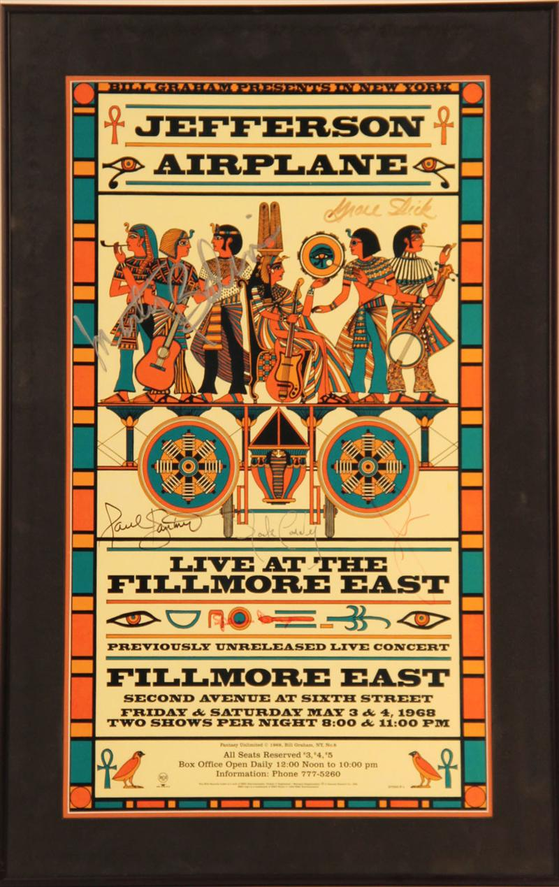 Igavel Auctions Jefferson Airplane Signed Fillmore East