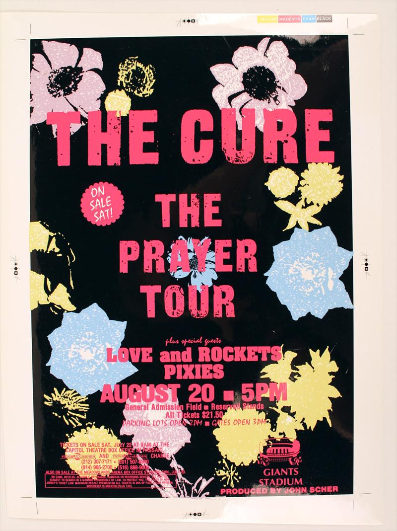 igavel auctions  the cure concert poster  ticket  backstage pass  and parking pass  n2rrd