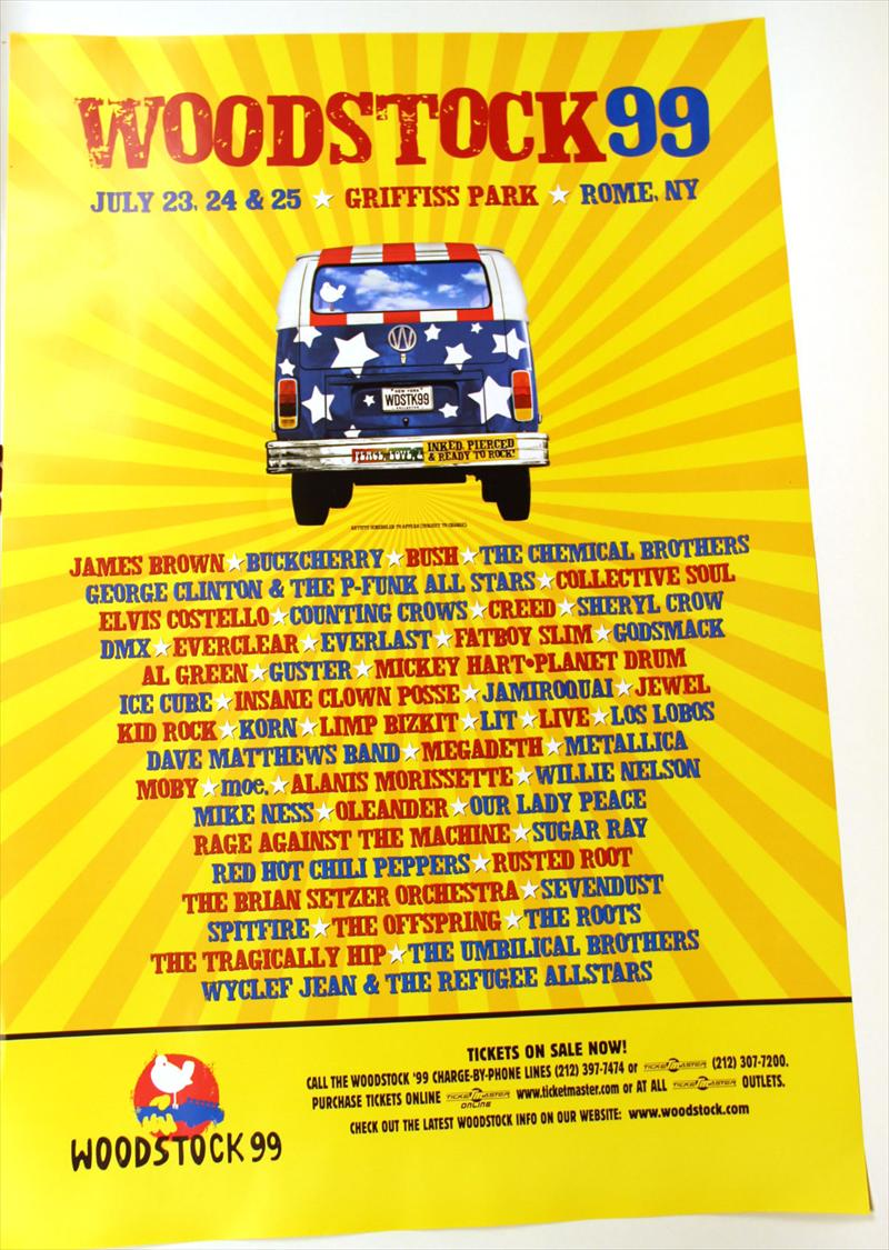 Igavel Auctions Five Woodstock 99 Posters N2rrd