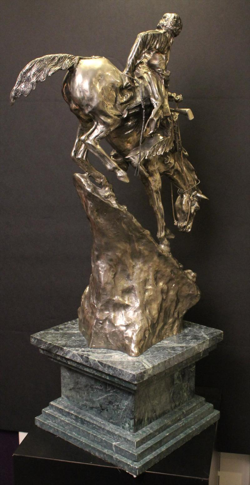 Igavel Auctions Cast 999 Silver Sculpture Quot Mountain Man