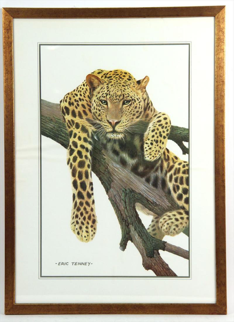 igavel auctions  eric tenney animal print  leopard  20th c   n1hnk