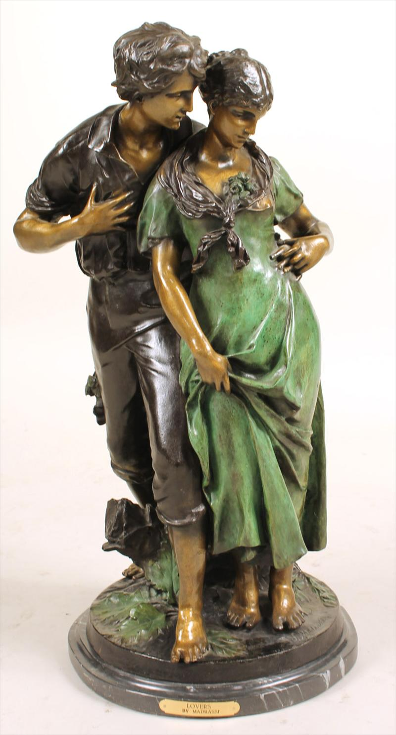 Igavel Auctions Bronze Sculpture Couple Luca Madrassi