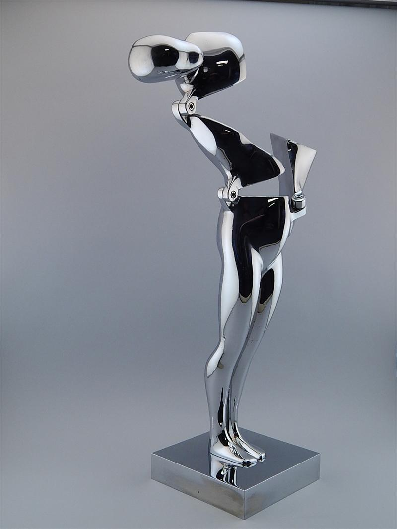 """Auctions In Kansas >> iGavel Auctions: Ernest Trova """"Falling Man"""" Chrome Plated ..."""