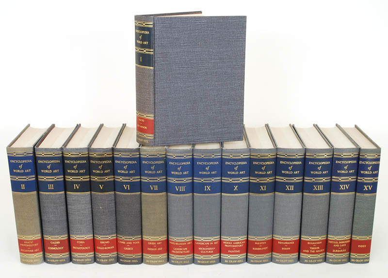 Igavel Auctions 15 Vols The Encyclopedia Of World Art
