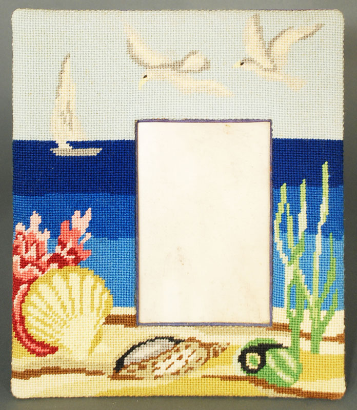 iGavel Auctions: 3 pcs: Needlepoint picture frames by Lou Gartner /R5RA1