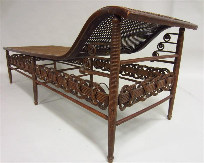Igavel auctions victorian caned chaise lounge by heywood for 19th century chaise lounge