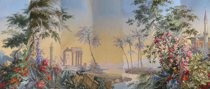 Igavel Auctions Complete 24 Panel Set Of Scenic Wallpaper