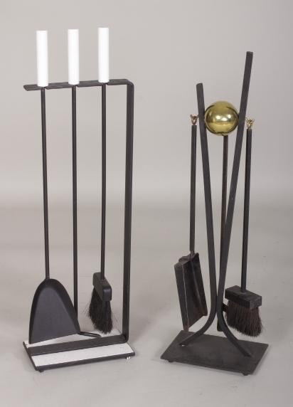 Igavel Auctions 2 Sets Of Fireplace Tools Art Deco Attr Donald