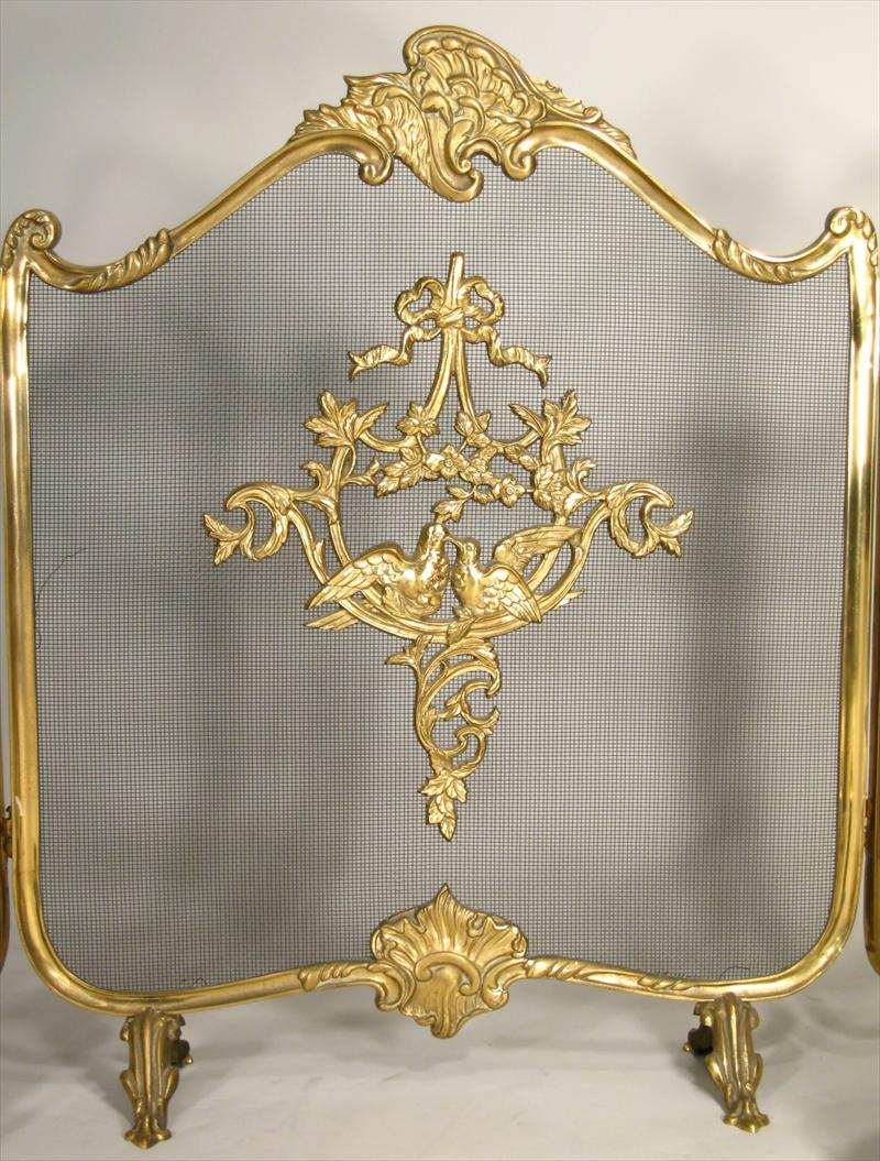 igavel auctions group of fireplace items incl louis xv style