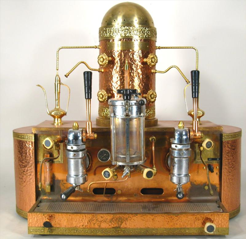 brass cappuccino machine