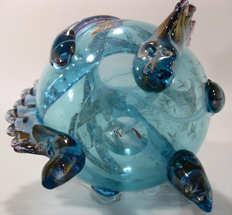 Igavel Auctions Art Deco Enameled Glass Vase Auguste