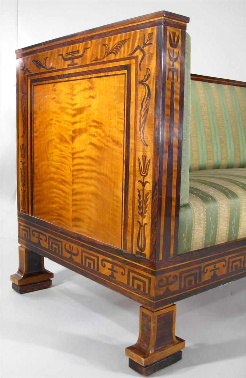 iGavel Auctions: Swedish Art Deco Inlaid Rosewood Settee ...