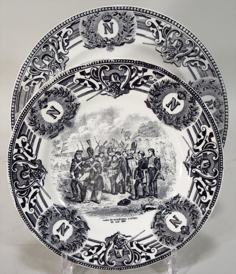 Igavel Auctions 9 Boch Freres La Louviere Napoleon Plates