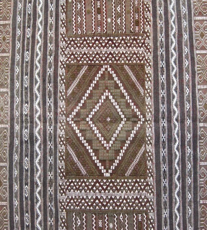 IGavel Auctions: Flatweave Moroccan Rug, 20th C., Pale