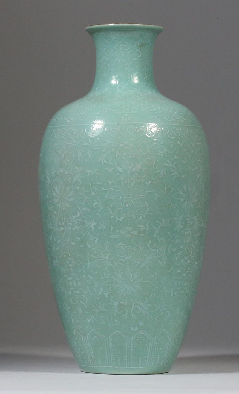 iGavel Auctions: Chinese Celadon Turquoise Glazed ...