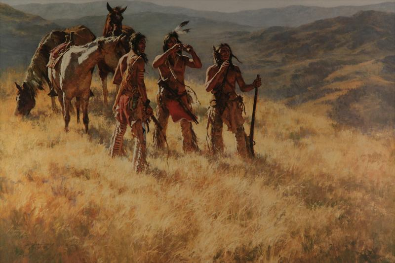 Igavel Auctions Howard Terpning American 20th C Print